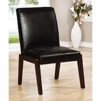 BELINDA I Transitional Side Chair, Dark Cherry, Set of 2