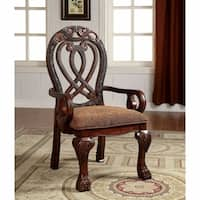 Wyndmere Traditional Arm Chair, Cherry Finish, Set of 2
