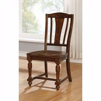 Griselda Transitional Side Chair, Brown Cherry, Set of 2