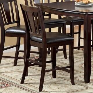 Edgewood II Counter Height Chair Withpu Seat, Espresso Finish,