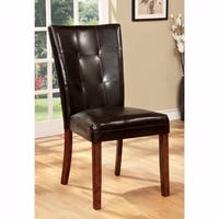 Elmore Side Chair With Dark Brown, Antique Oak Finish, Set of 2