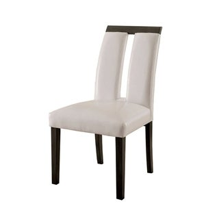 Luminar I Contemporary Side Chair In White, Gray Finish, Set of 2