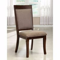 Woodmont Contemporary Side Chair, Walnut Finish, Set Of 2