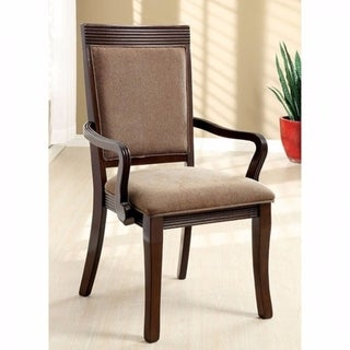 Woodmont Contemporary Arm Chair, Walnut Finish, Set Of 2