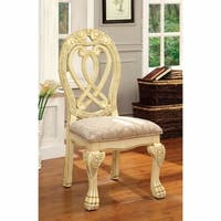 Wyndmere Traditional Side Chair, Cream Finish, Set of 2