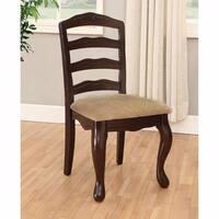 Townsville Cottage Side Chair, Dark Walnut Finish, Set of 2