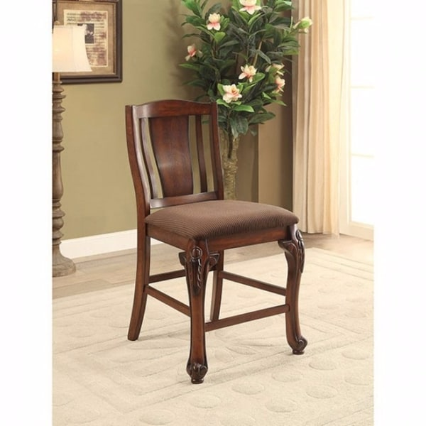 c6fefffc8b Johannesburg Traditional Counter Height Chair, Brown Cherry, Set Of 2
