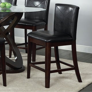 Atenna II Contemporary Counter Height Chair With Dark Walnut, Set of 2