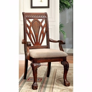 Petersburg I Traditional Arm Chair,Cherry Finish, Set of 2