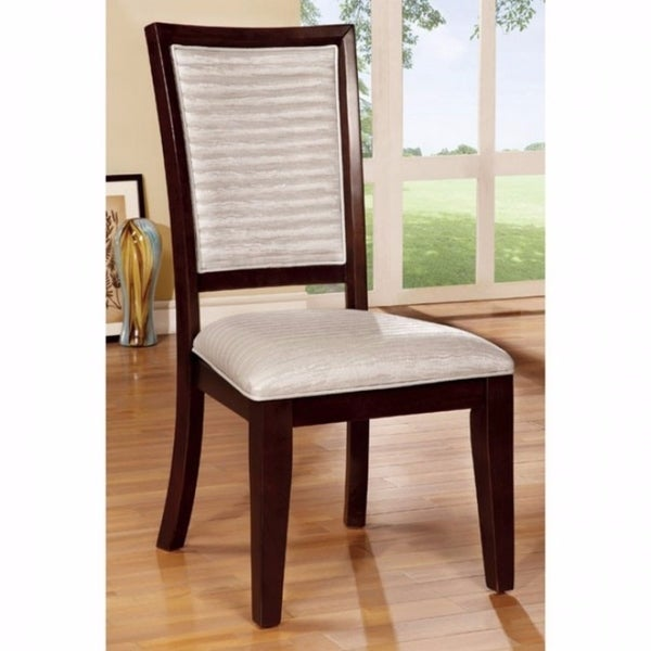 Garrison I Contemporary Side Chair, Expresso Finish, Set of 2