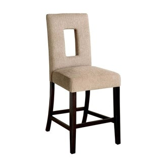 West Palm II Counter Height Chair With Fabric, Espresso, Set of 2