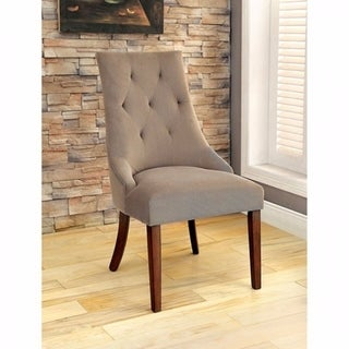 Havana Contemporary Side Chair With Flannelette, Set of 2