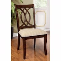 Carlisle Transitional Side Chair, Brown Cherry Finish, Set of 2