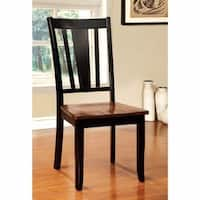 Dover Side Chair Withwooden Seat, Cherry & Black Finish, Set of 2