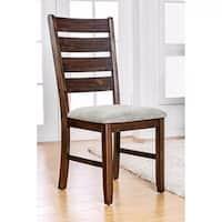 Wallis Transitional Side Chair, Walnut Finish, Set of 2