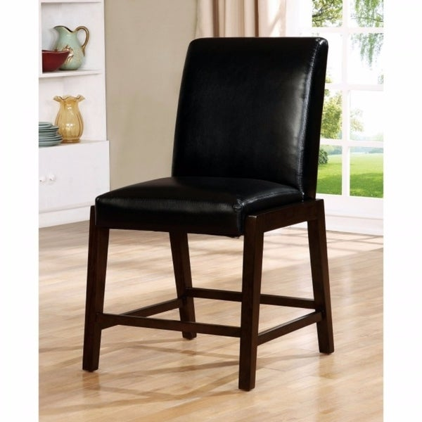 BELINDA II Transitional Counter Height Chair, Dark Cherry