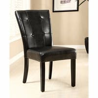 Marion I Contemporary Marion Side Chair, Espresso Finish, Set of 2