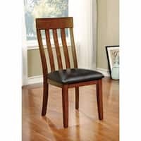 Foxville Transitional Side Chair, Cherry Finish, Set Of 2