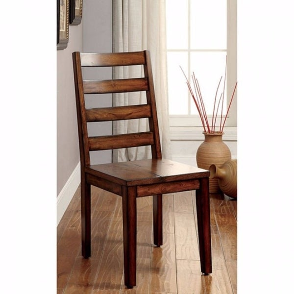 Maddison Contemporary Side Chair, Tobacco Oak Finish, Set of 2