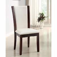 Manhattan I Contemporary Side Chair, White Finish, Set of 2