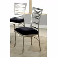 Roxo Contemporary Side Chair With Black Micro Fabric Cushion, Set of 2