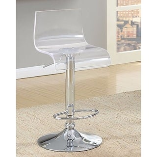 Trixy Contemporary Bar Chair Transparent Color Acrylic Seat, Set of 2