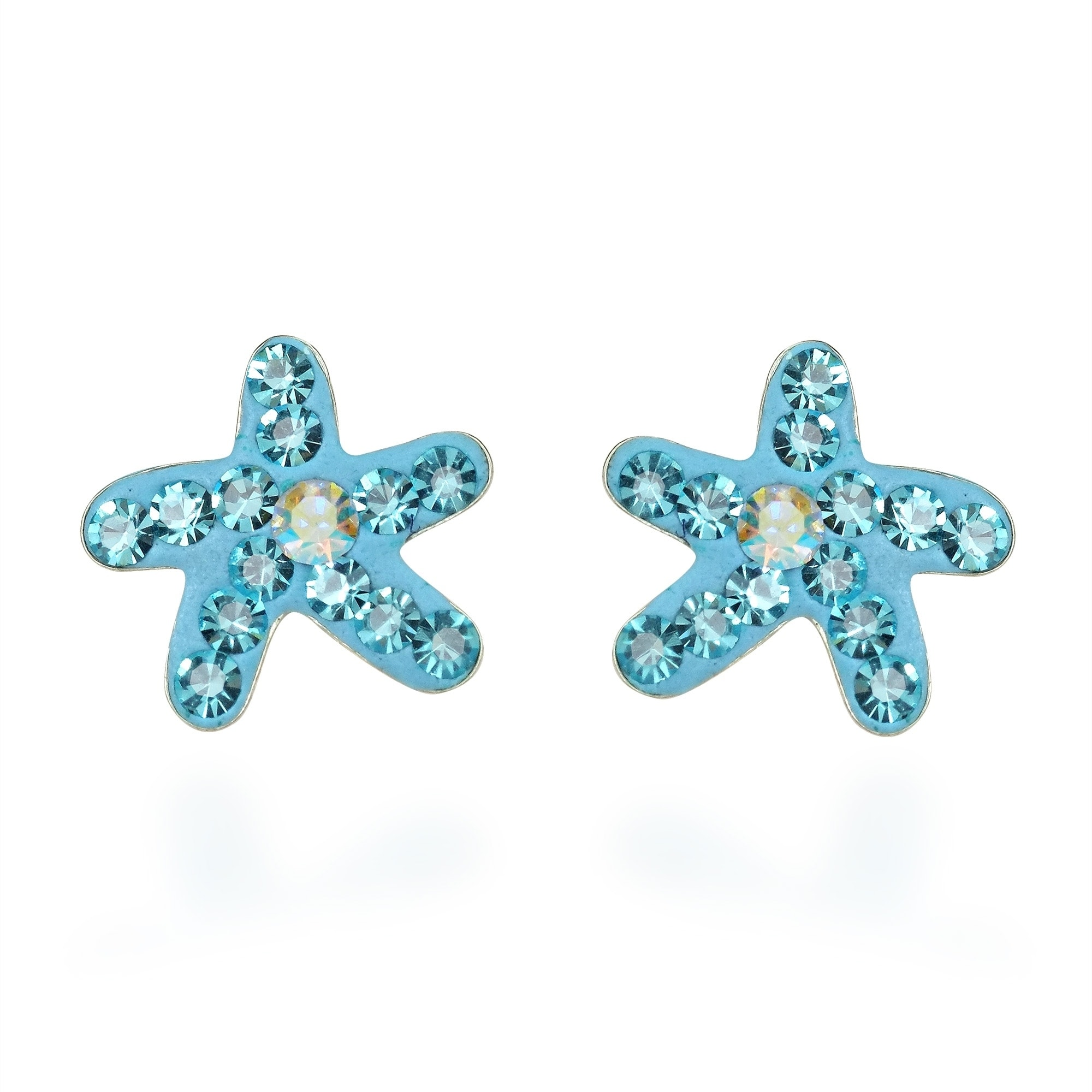 gold pre stud products phoenix starfish roze earrings