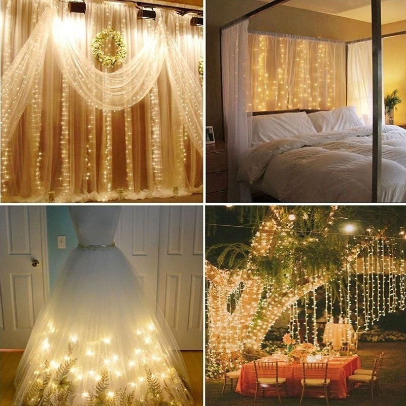 304 Led Wall Lights Curtain String Outdoor Light