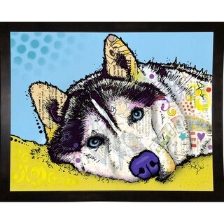 "Siberian Husky Framed Print 15.5""x19.75"" by Dean Russo"