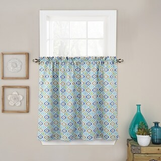 Waverly Lunar Lattice Curtain Tier Pair
