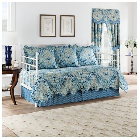 Waverly Moonlit Shadows Reversible 5 Piece Quilt Daybed Collection