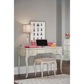 Hillsdale Angela Desk with Bench, Opal Grey|https://ak1.ostkcdn.com/images/products/17973979/P24149174.jpg?impolicy=medium