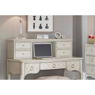 Hillsdale Angela Desk Hutch, Opal Grey