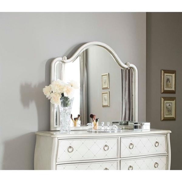 Hillsdale Angela Wood Arc Mirror, Opal Grey
