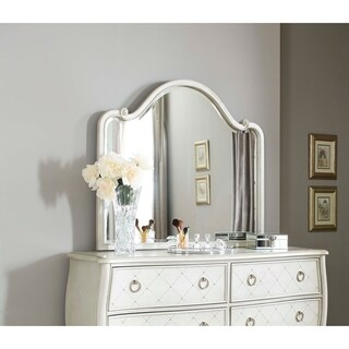 Hillsdale Angela Wood Arc Mirror, Opal Grey