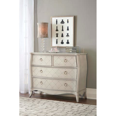 Hillsdale Angela 4 Drawer Chest, Opal Grey