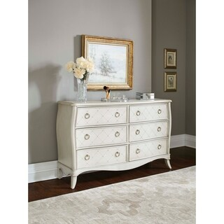 Hillsdale Angela 6 Drawer Dresser, Opal Grey