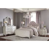 Hillsdale Angela Full Arc Upholstered Bed, Opal Grey