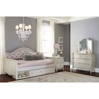Hillsdale Angela Upholstered Daybed With Storage, Opal Grey