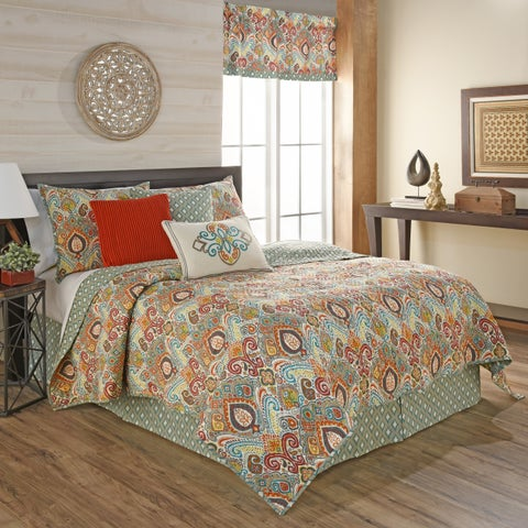 Waverly Boho Passage Reversible Quilt Collection