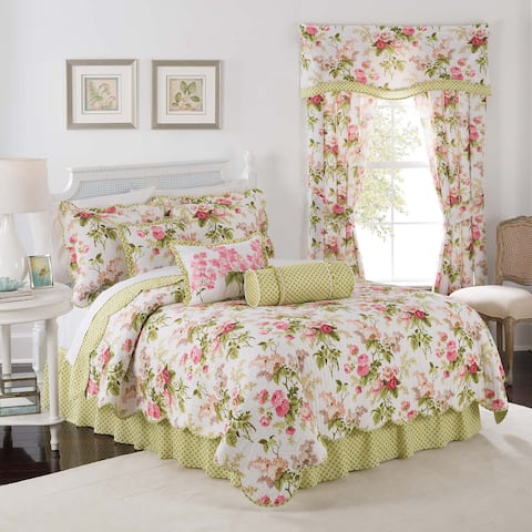 Waverly Emma's Garden Twin Quilt Set - Blossom