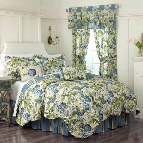 Waverly Floral Flourish Quilt Set