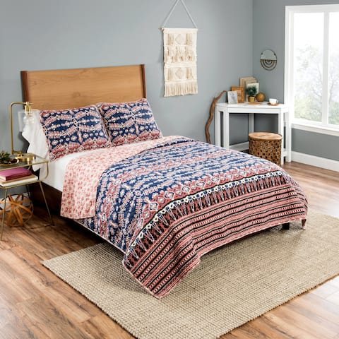 Vue Yara Piece Reversible Quilt Set - Multi