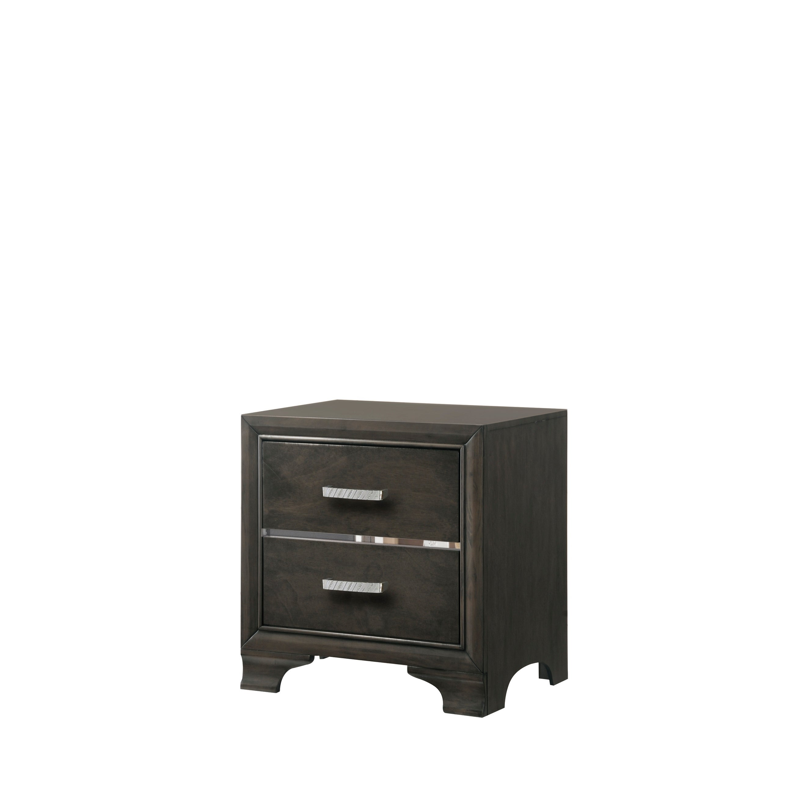 Paxton 2 Drawer Night Stand In Light Grey Finish