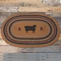 "Heritage Farms Sheep Oval Jute Rug - 1'8"" x 2'6"""