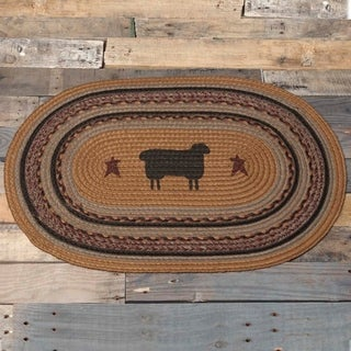 "Heritage Farms Sheep Oval Jute Rug - 1'8"" x 2'6"""