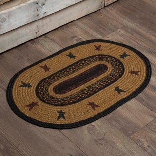 "Heritage Farms Star Oval Jute Rug - 1'8"" x 2'6"""