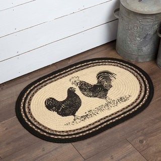 "Sawyer Mill Poultry Oval Jute Rug - 1'8"" x 2'6"""