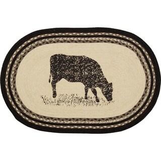 """Sawyer Mill Cow Oval Jute Rug - 1'8"""" x 2'6"""""""