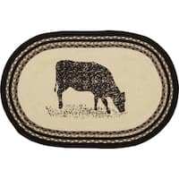"Sawyer Mill Cow Oval Jute Rug - 1'8"" x 2'6"""